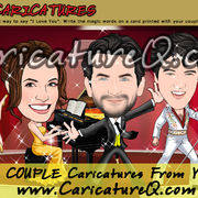 Couple Custom Caricatures From Photos Gifts