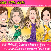 Female Custom Caricatures From Photos Gifts