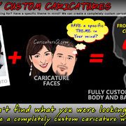 Fully Custom Caricatures From Photos Gifts