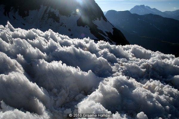 melting snow crystals