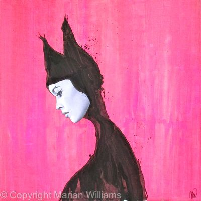 Cat Woman on Pink