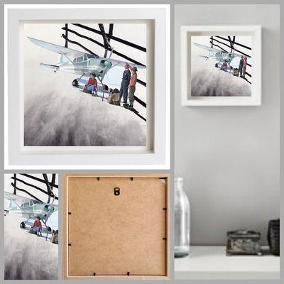 20 x 20 cm framed collage