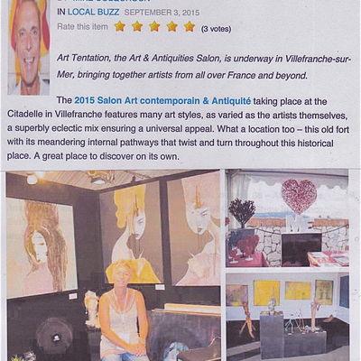 Salon d'Art, Villefranche sur Mer, 2015