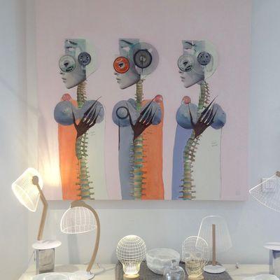 Womanoids, 120 x 120 cm