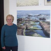Here's me at the Lighthouse in Poole      Step to the sea exhibited in The Lighthouse Poole