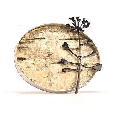 Silver Birch brooch