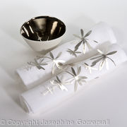 Botanical napkin rings
