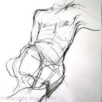 nude, boy reclining
