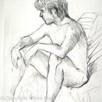 Dean, sitting, elbows on knees