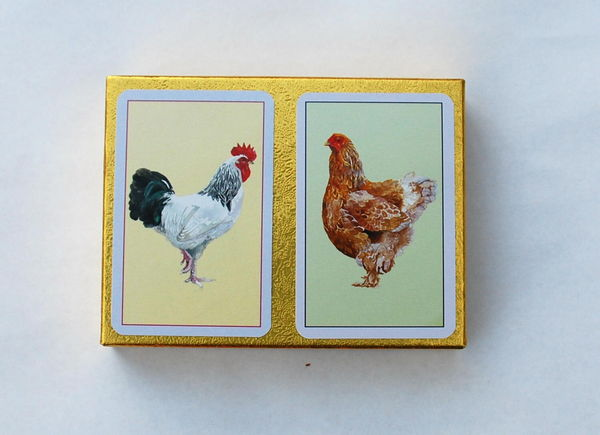Chicken bridge cards