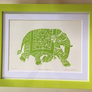 Indian Elephant - green