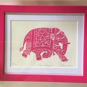 Indian Elephant - Pink