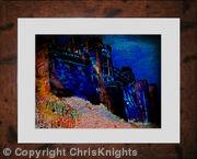 Bamburgh Castle South at Dusk (framed)