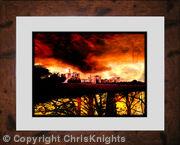 Castle Under Fire (Framed)