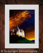 Chateau Au Crepuscule (Framed)