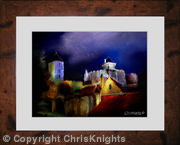 Moonlit Fort (Framed)