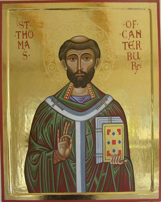 Byzantine style icon of St Thomas Becket