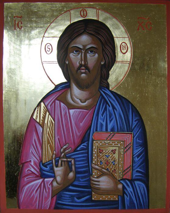 Byzantine Christ Pantocrator Icon