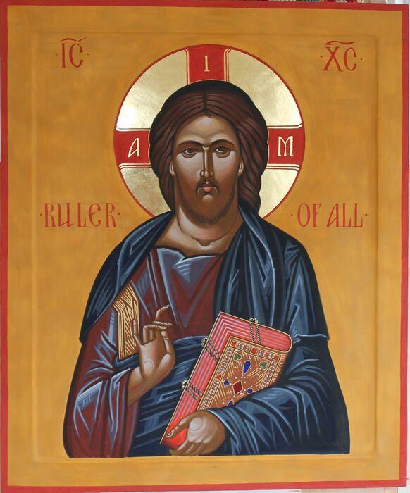 Byzantine Style Christ Pantocrator