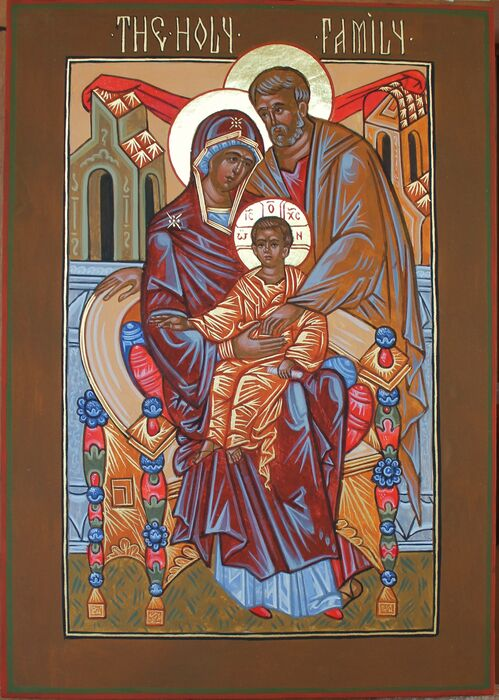 Russian Style Holy Family Icon