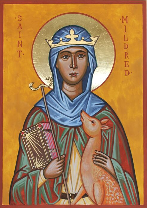 Saint Mildred Icon