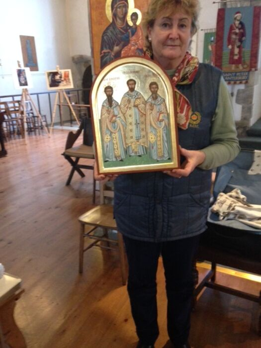 Jane second year student Iconostasis Programme