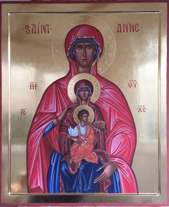 Byzantine Style Saint Anne Icon