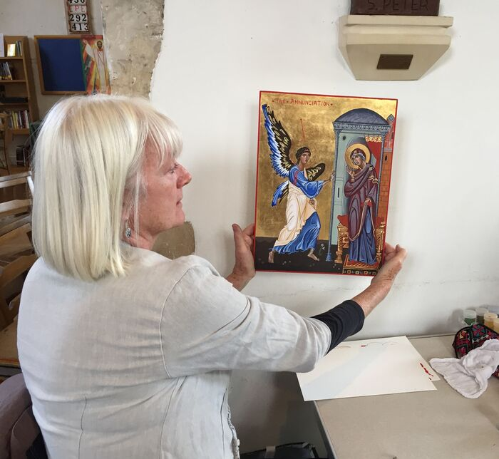 Jackie of the Iconostasis Group with her Annunciation Icon