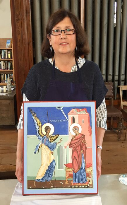Chris of the Iconostasis Group with her Annunciation Icon