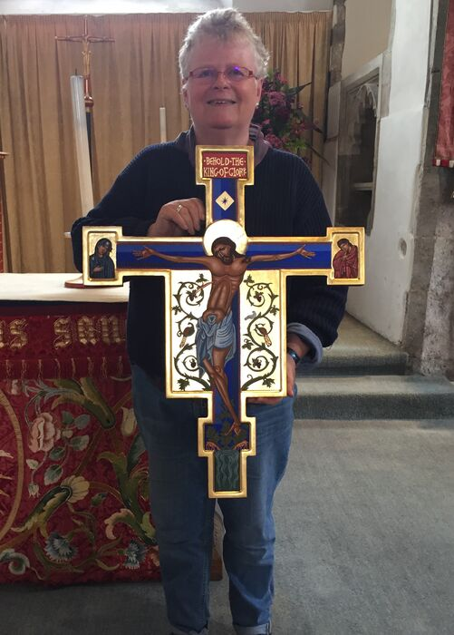 Alex Second Year Iconostasis Student With Completed Italo Byzantine Cross