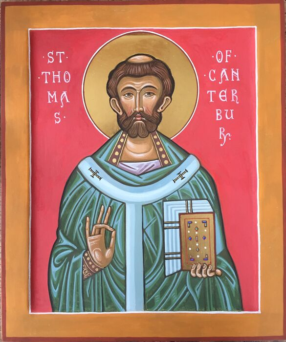 Small St Thomas of Canterbury Icon