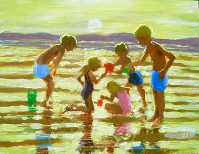 CHILDREN ON THE BEACH 3