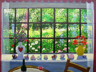 VIEW THROUGH A WINDOW - Hot summer day