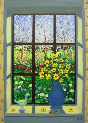 VIEW THROUGH A WINDOW - Spring day