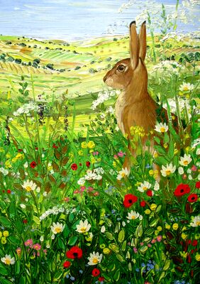 HARE ON THE SOUTH DOWNS