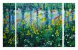 YELLOW IRISES 2  Triptych