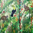 Squirrel monkeys and Toucan