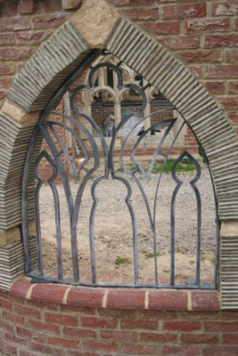 acid washed cloister window grill