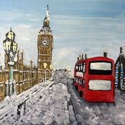 Westminster Bridge at Christmas