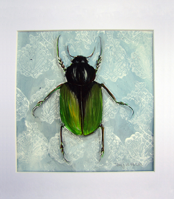 Green And Black Bug
