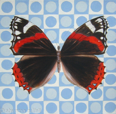 Red Admiral on pattern