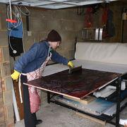 Inking Woodblock