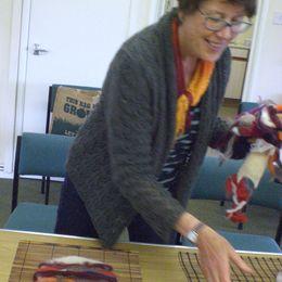 Angela demonstrating methods