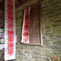 Poppy Banners at Clun