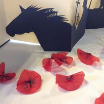 War Horse and poppies