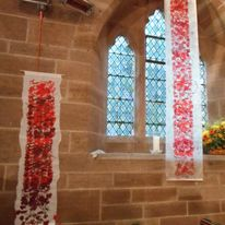 Poppy banners at Waters Upton