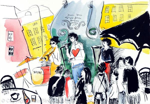 Gothenburg - Street Musicians. 8 000 SEK