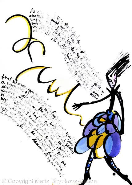 Alice in Wonderland 4 (series of 4 works)