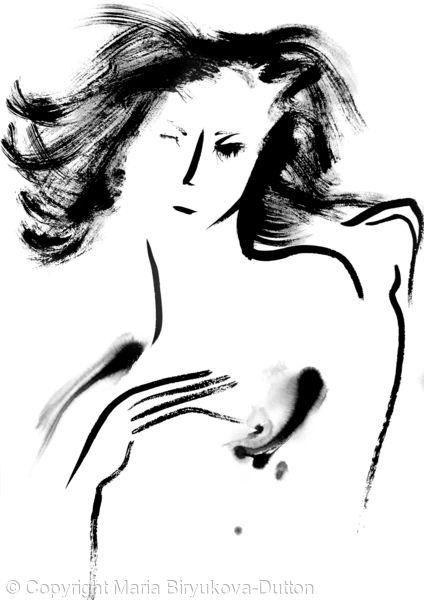 Model Portrait in Bottichelli style