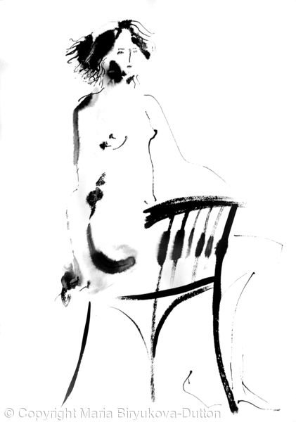 Model with a Chair